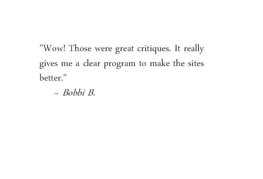 Bobbi Testimonial