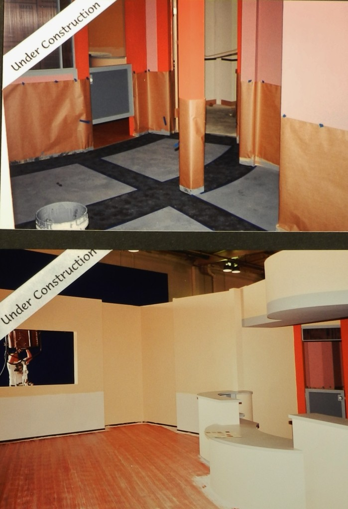 """The Dentist"" (1996) waiting room and foyer under construction."