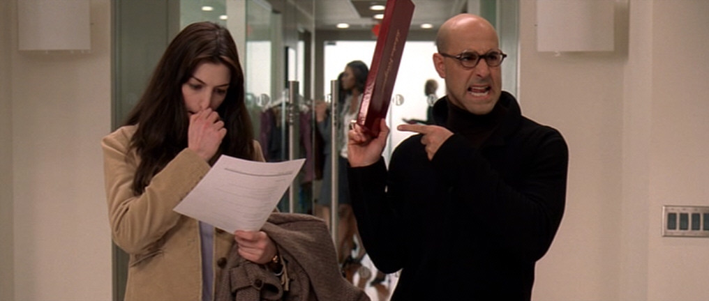 Anne Hathaway and Stanley Tucci