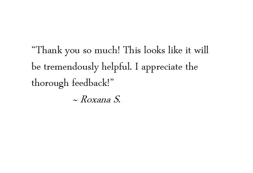 Roxana testimonial