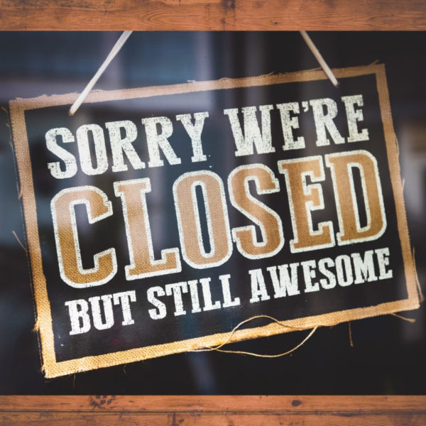 Closed but Still Awesome sign in window